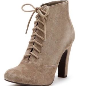 NWOT Seychelles Fever Pitch Tan Suede Booties 5.5
